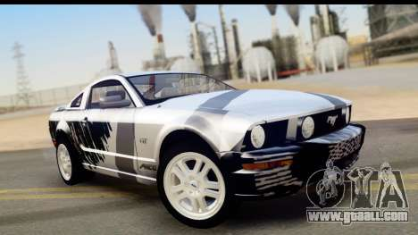 Ford Mustang GT for GTA San Andreas engine