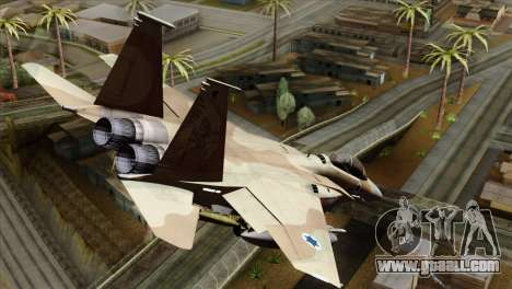 F-15E Strike Eagle Israeli Air Force for GTA San Andreas left view