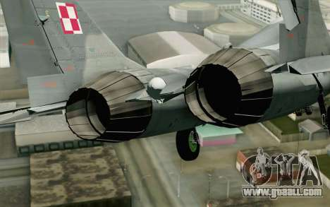 MIG-29 Polish Air Force for GTA San Andreas back view