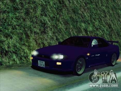 Nissan Skyline GT-R V-Spec (BNR34) for GTA San Andreas