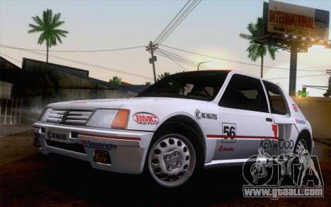 Peugeot 205 Turbo 16 1984 [IVF] for GTA San Andreas engine