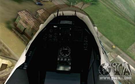 Mitsubishi F-2 Original JASDF Skin for GTA San Andreas back view