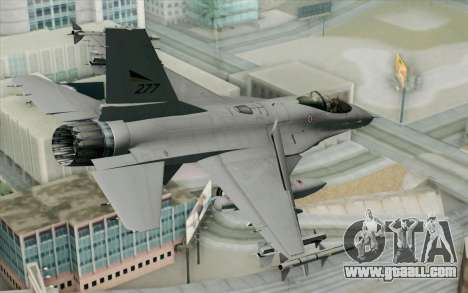 F-16 Fighting Falcon RNoAF PJ for GTA San Andreas left view