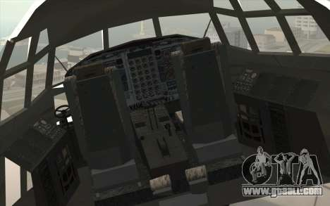 Lockheed C-130 Hercules Indonesian Air Force for GTA San Andreas back view
