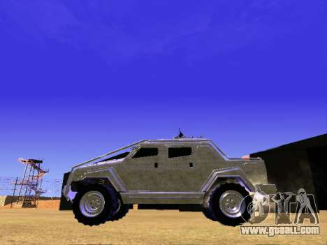 HVY Insurgent Pickup for GTA San Andreas back view