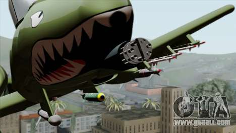 A-10 Warthog Shark Attack for GTA San Andreas back view