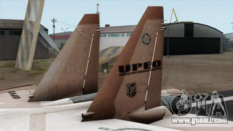 SU-37 UPEO for GTA San Andreas back left view