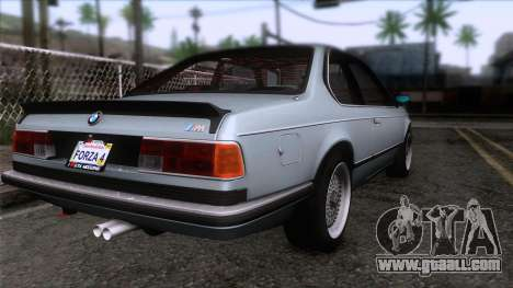 BMW M635 CSi 1984 Stock for GTA San Andreas left view