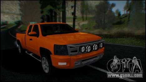Chevrolet Silverado 1500 HD Stock for GTA San Andreas interior