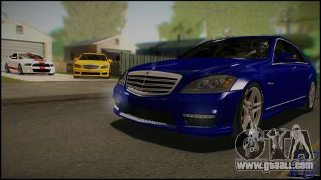 Mercedes-Benz S65 AMG 2012 Road version for GTA San Andreas inner view