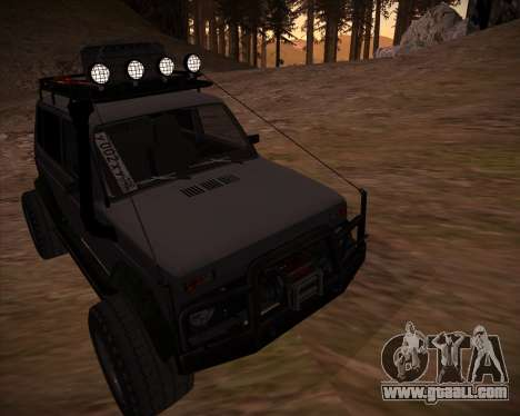 VAZ 2131 Niva 5D OffRoad for GTA San Andreas bottom view