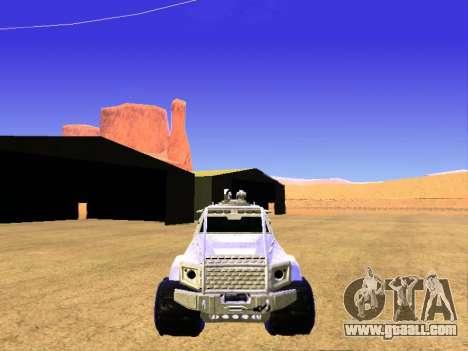 HVY Insurgent Pickup for GTA San Andreas inner view