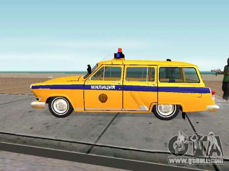 GAS 22 the Soviet police for GTA San Andreas left view