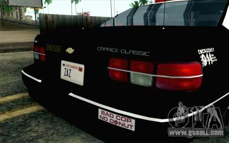 Chevy Caprice SAHP SAPD Highway Patrol v1 for GTA San Andreas back view