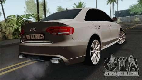 Audi S4 Sedan 2010 for GTA San Andreas left view