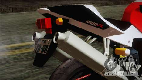 Honda RVT1000R (RC51) IVF for GTA San Andreas back view