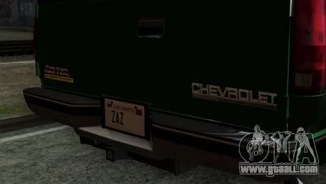 Chevrolet Suburban GMT400 1998 for GTA San Andreas back view