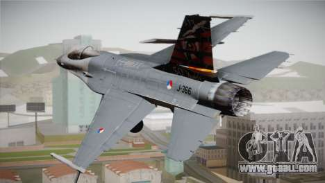 F-16 Fighting Falcon 50th Anniv. of Squadron 313 for GTA San Andreas