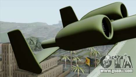 A-10 Warthog Shark Attack for GTA San Andreas back left view
