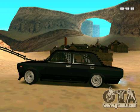 VAZ 2107 CRAMPS for GTA San Andreas left view