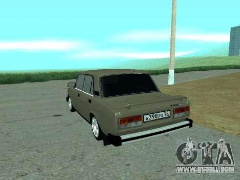 VAZ 2105 Lada for GTA San Andreas back left view