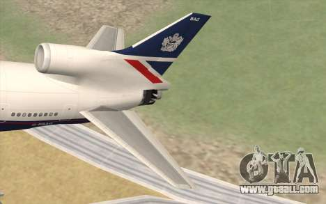 Lookheed L-1011 British Airways for GTA San Andreas back left view