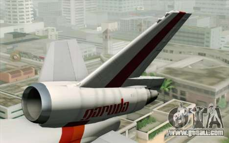 DC-10-30 Garuda Indonesia Sulawesi for GTA San Andreas back left view