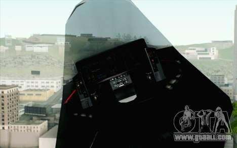 Sukhoi PAK-FA China Air Force for GTA San Andreas right view
