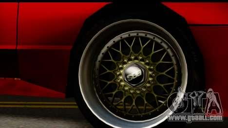 Elegy V1 for GTA San Andreas back view