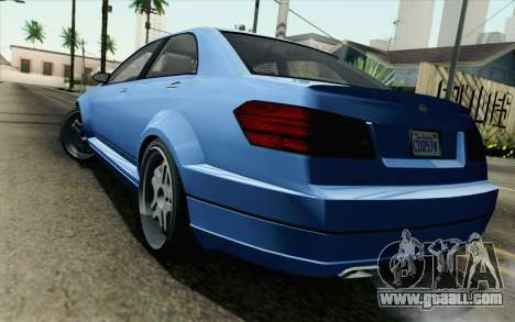 GTA 5 Benefactor Schafter for GTA San Andreas left view