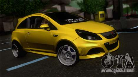 Opel Corsa OPC for GTA San Andreas