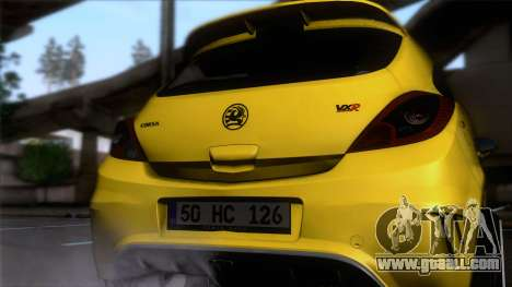 Opel Corsa OPC for GTA San Andreas back view