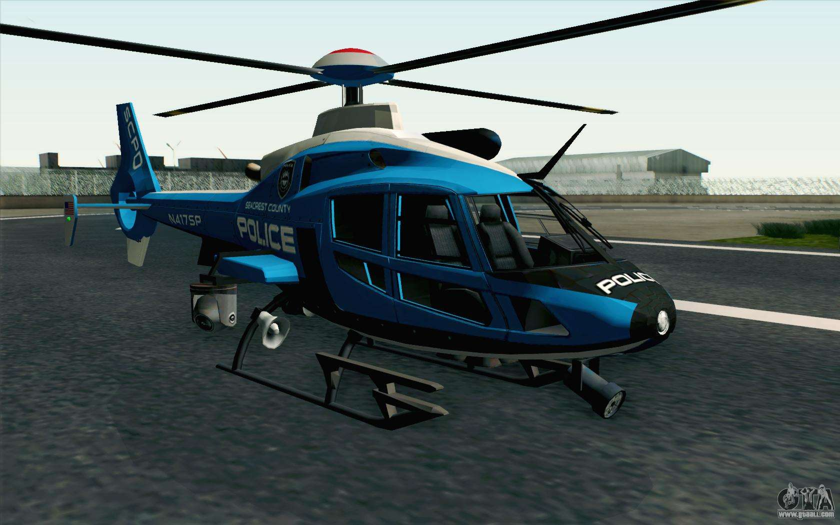 NFS HP 2010 Police Helicopter LVL 2 for GTA San Andreas