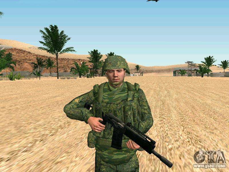 The Russian military is in a new form for GTA San Andreas