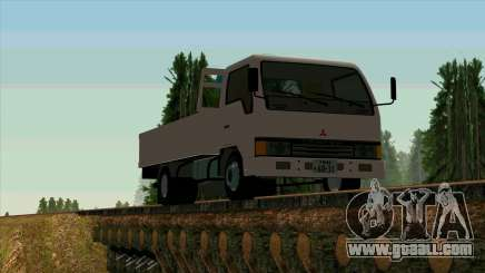 Mitsubishi Fuso Canter 1989 With Crane for GTA San Andreas