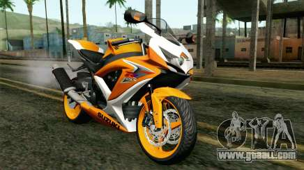 Suzuki GSX-R 600 2015 Orange for GTA San Andreas
