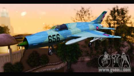 MIG-21MF Cuban Revolutionary Air Force for GTA San Andreas
