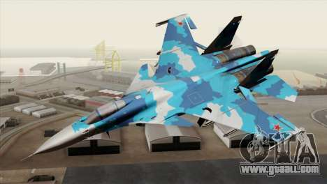 SU-33 Flanker-D Blue Camo for GTA San Andreas