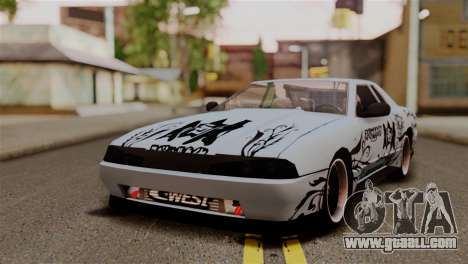 Elegy Full Customizing for GTA San Andreas back view