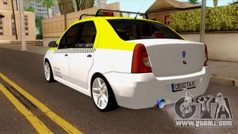 Dacia Logan Taxi for GTA San Andreas left view