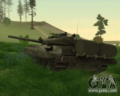 T-72 for GTA San Andreas back left view