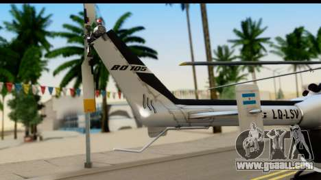 MBB Bo-105 Argentine Police for GTA San Andreas back left view