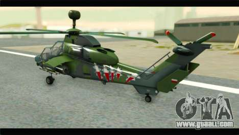 Eurocopter Tiger Polish Air Force for GTA San Andreas left view