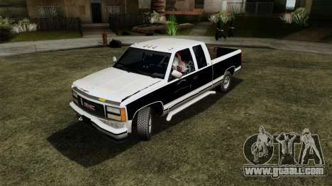 GMC Sierra 2500 1992 Extended Cab Final for GTA San Andreas back view