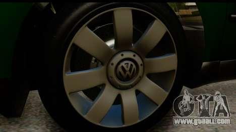 Volkswagen Passat B5 for GTA San Andreas back view