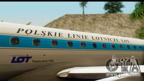 Embraer 175 PLL LOT Retro for GTA San Andreas inner view