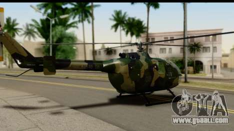 MBB Bo-105 Army for GTA San Andreas left view