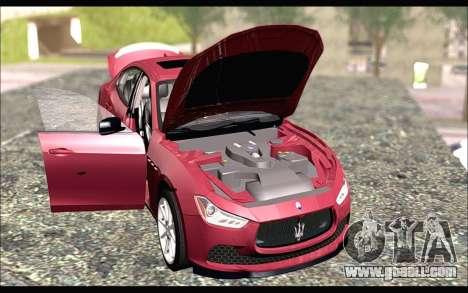 Maserati Ghibli 2014 for GTA San Andreas right view