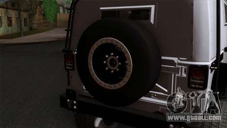 Jeep Wrangler 2013 Fast & Furious Edition for GTA San Andreas back view