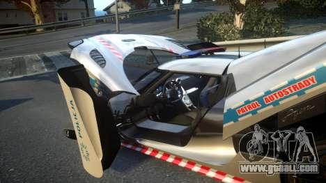Koenigsegg Agera Polish Highway Patrol Police for GTA 4 upper view